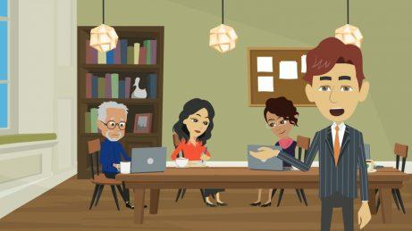 animovaný obrázek porady představenstva družstva